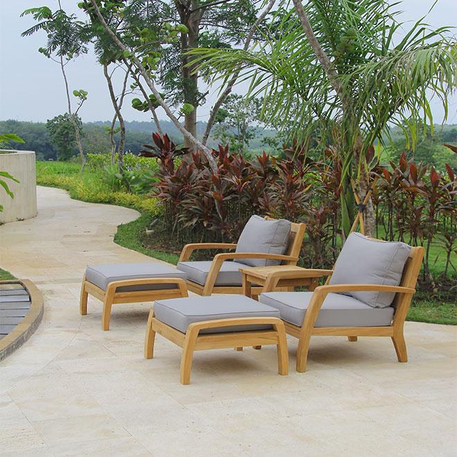Corona Lounge Chair with Ottoman