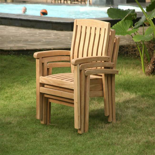 Marley Stacking Arm Chair stacked