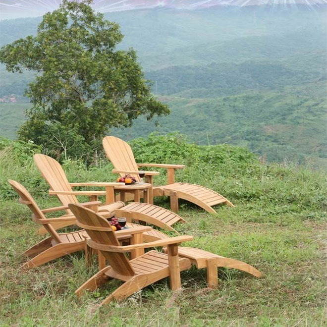 New Adirondack Chair with Footstool